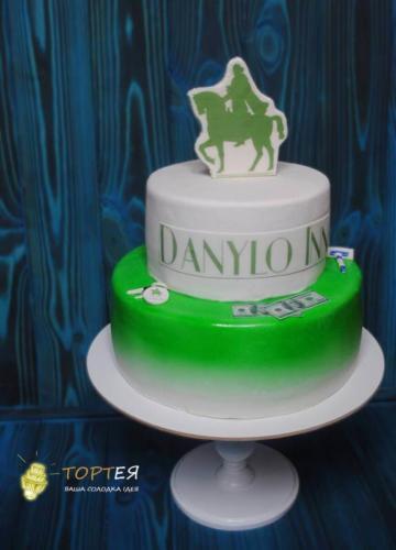 Корпоративний двоярусний торт Данило Інн