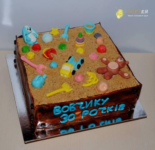 Торт пісочниця для чоловіка на 30 років