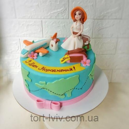 Торт для любительниці подорожей
