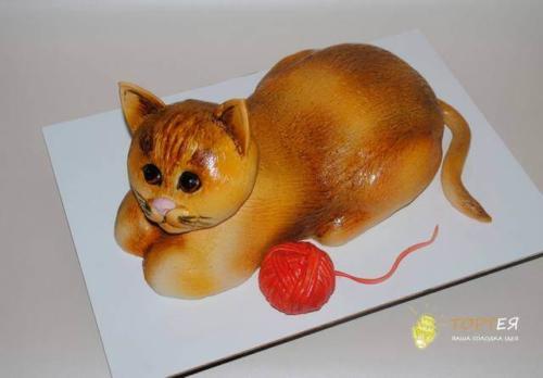 Фігурний торт у вигляді кота
