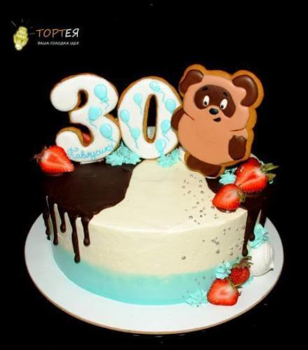 Торт Вінні Пух на 30 років