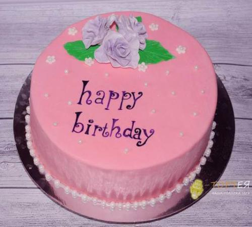 Рожевий торт на день народження для подруги
