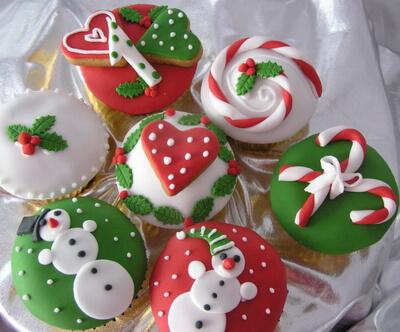 Капкейки на різдво