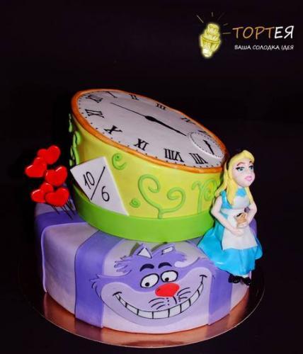 """Торт для дівчинки """"Аліса в країні чудес"""""""