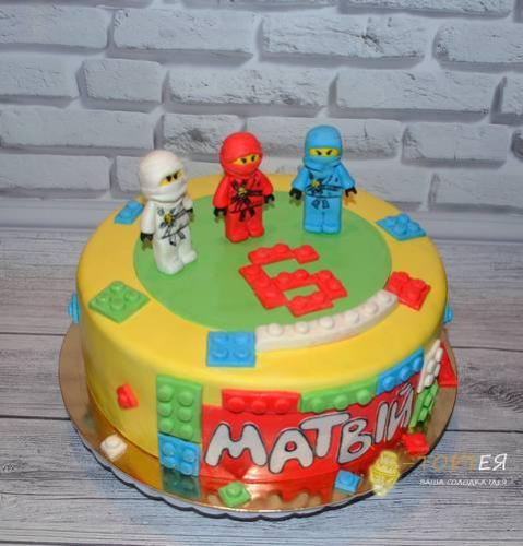 Дитячий торт лего ніндзяго