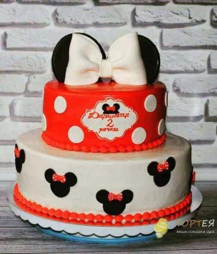 Торт для дівчинки на день народження в стилі Міккі