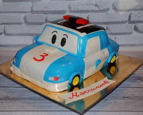 Торт робокар Полі