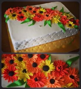 Красивий святковий тортик
