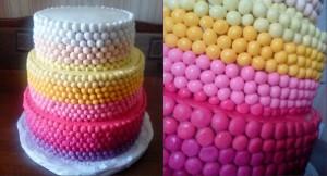 Гламурний весільний торт