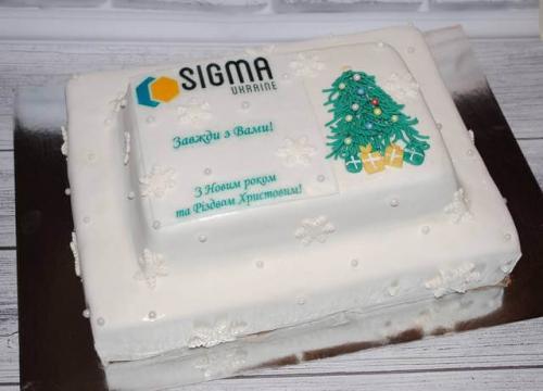 Корпоративний торт Сігма