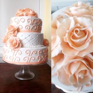 Красивий весільний торт