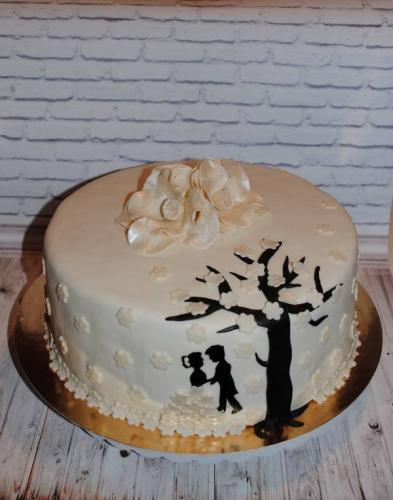Маленький весільний торт