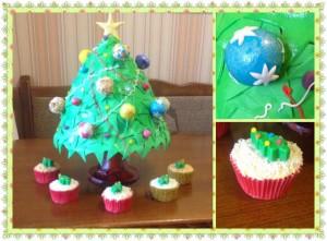 Святковий новорічний торт