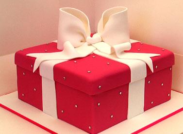 Новорічний торт подарунок