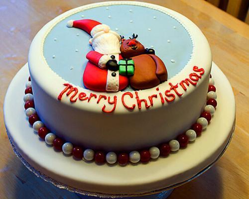 Новорічний торт- санта