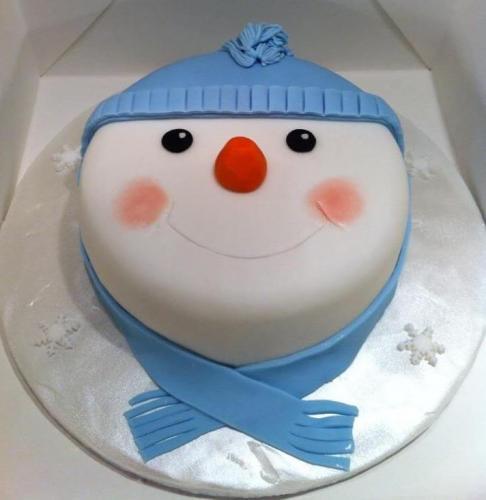 Новорічний тортик - сніговик