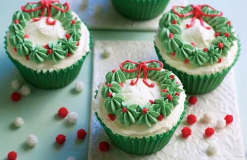 Різдвяні капкейки