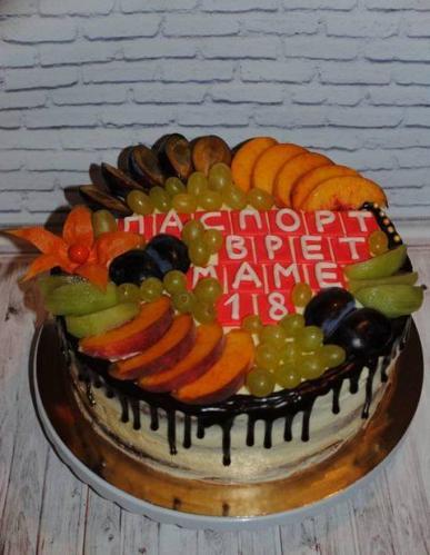 Торт для мами без мастики