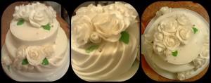 Торт білі квіти