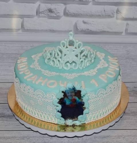 Торт на 1 рік народження для дівчинки