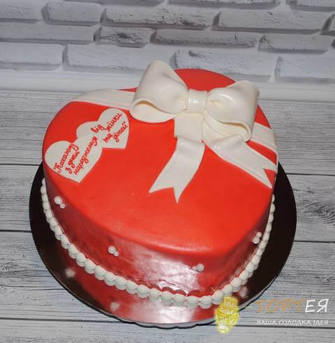 Торт у формі серця для коханого чоловіка та батька