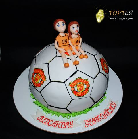 Торт для футболіста і фаната МЮ