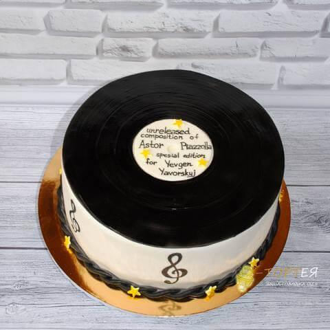 Торт платівка для коханого