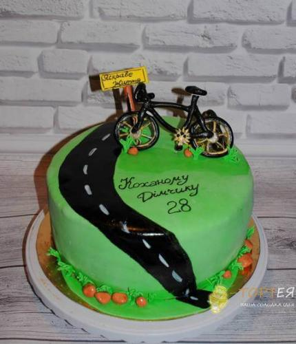 Торт на день народження велосипедиста