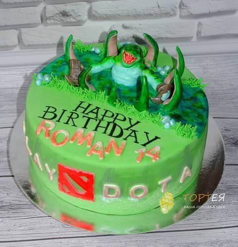 Торт в стилі ігри Дота з персонажем Тайд Хантер