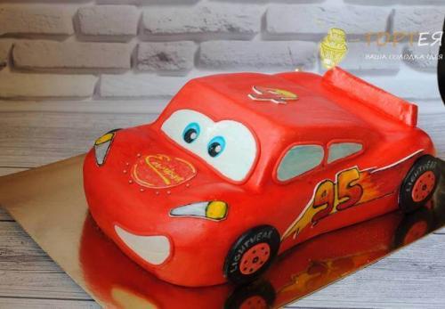 Бісквітний торт блискавка Маквін на день народження хлопчика