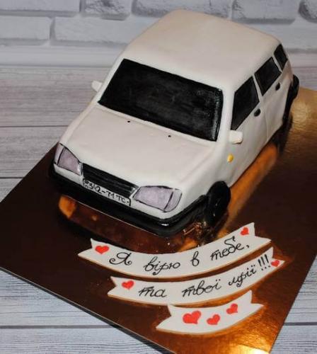 Торт машина девятка