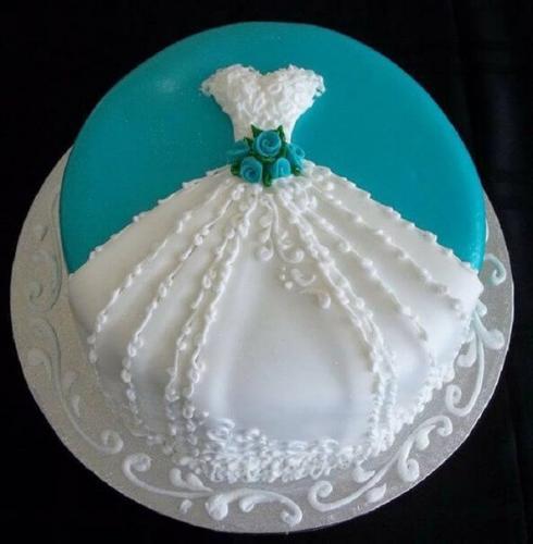 Торт плаття на дівич вечір