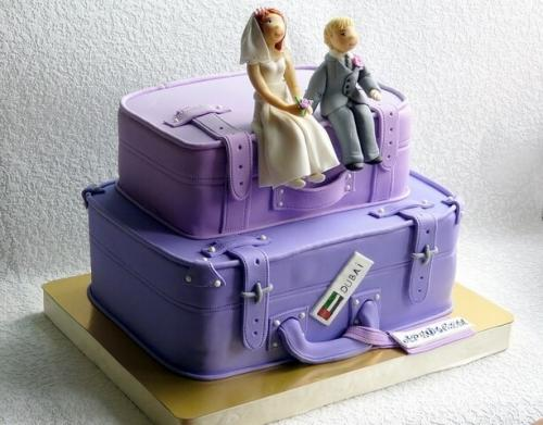 Торт на дівич вечір для любителів подорожів