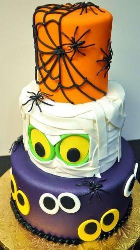Торт на хелловін - 3 ярусний