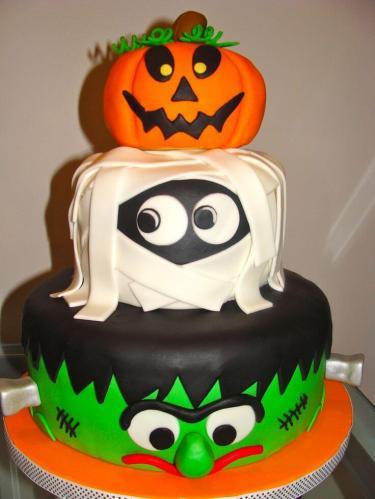 Веселий торт на хелловін