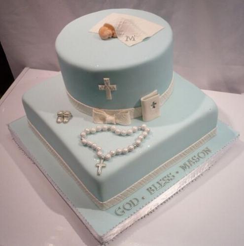 Двоярусний торт на хрестини