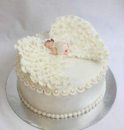 Торт на хрестини - ангел