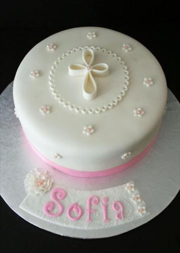 Невеликий тортик на хрещення дівчинки