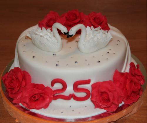 Торт на річницю весілля - 25