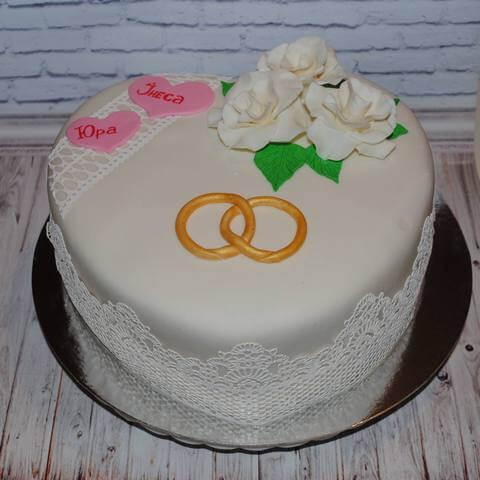 Торт на річницю 4 роки