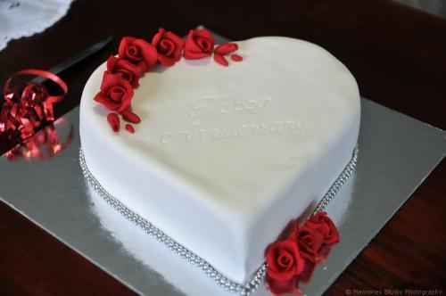 Торт на річницю весілля - серце
