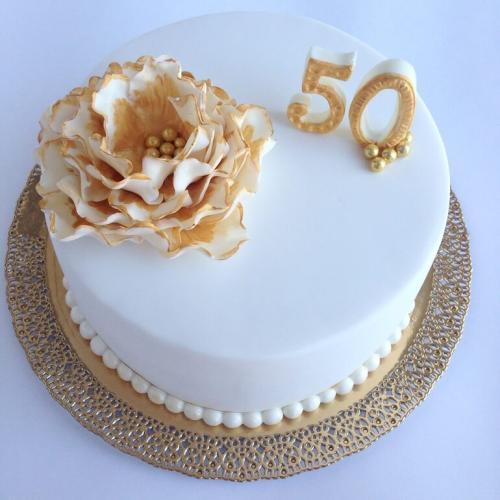 Торт на річницю весілля - 50 років