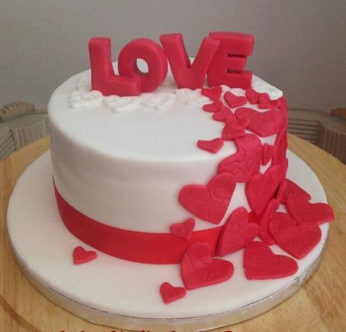Торт на річницю весілля -  любов