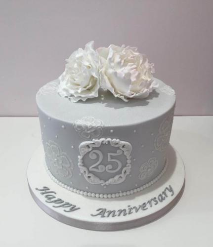 Торт на 25 річницю весілля