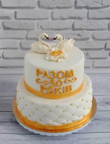 Торт на золоте весілля