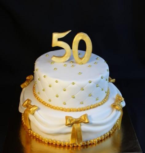 Торт на золоте весілля - 50 років