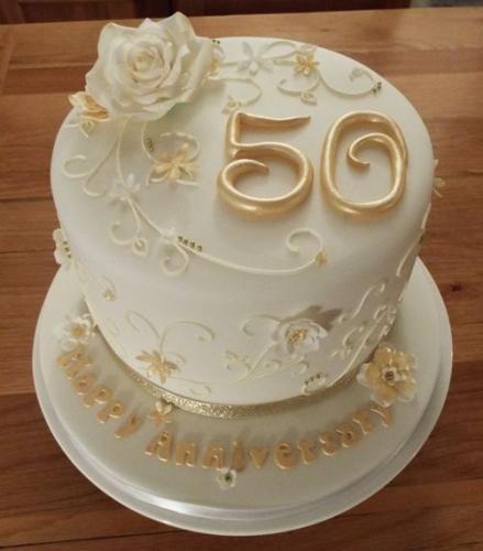 Торт на золоте весілля у Львові
