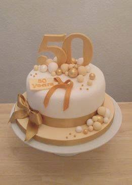 Торт на золоту річницю весілля - 50 років