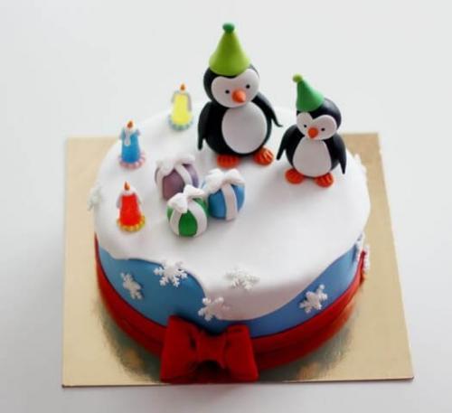 Торт пінгвіни