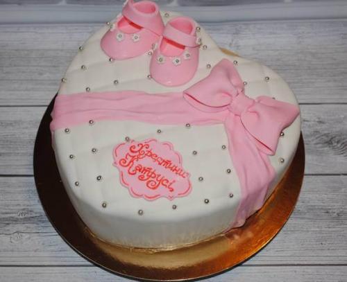 Торт на хрестини дівчинки